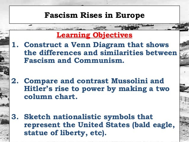 fascism germany and italy contrast and comparisons Comparison between fascist italy and nazi germany the reasons for the rise of fascism in both germany and italy had three common denominators:.