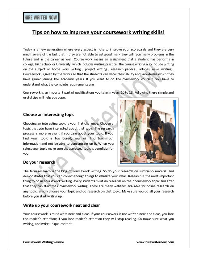 Coursework writing websites