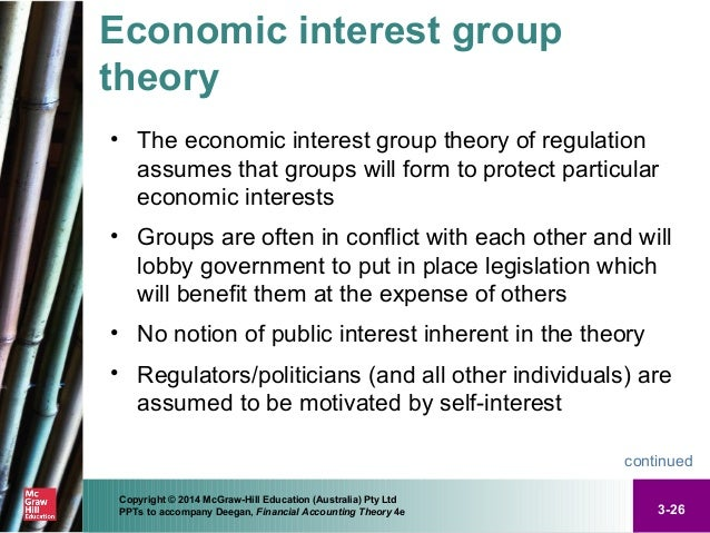 capture theory accounting Known variously as the capture theory, economic theory, or government- services  theory of  virtually all public-interest accounts of regulation the classical.