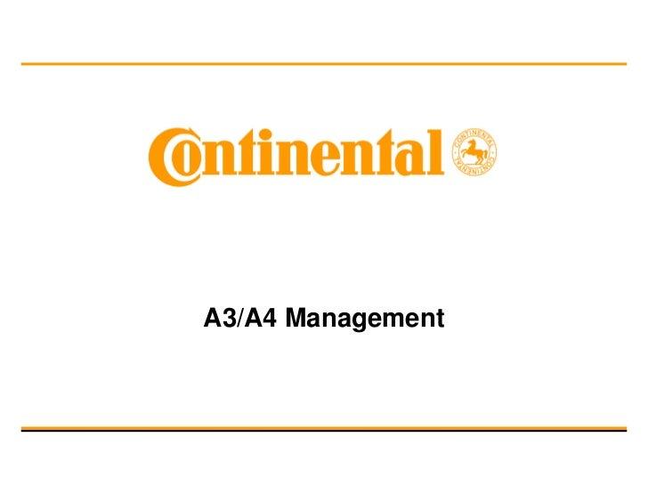 A3/A4 Management