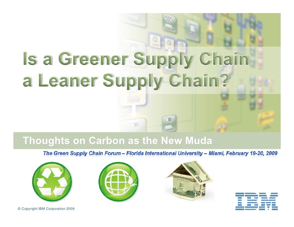 Thoughts on Carbon as the New Muda     © Copyright IBM Corporation 2009