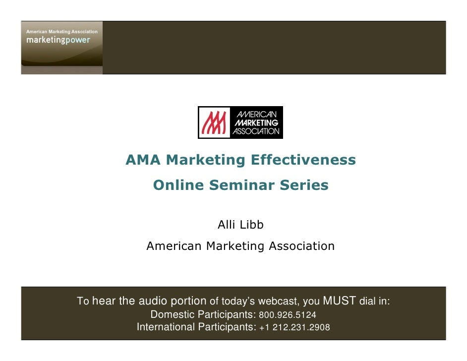 To hear the audio portion of today's webcast, you MUST dial in:               Domestic Participants: 800.926.5124         ...