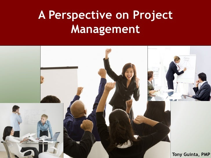 A Perspective on Project Management Tony Guinta, PMP
