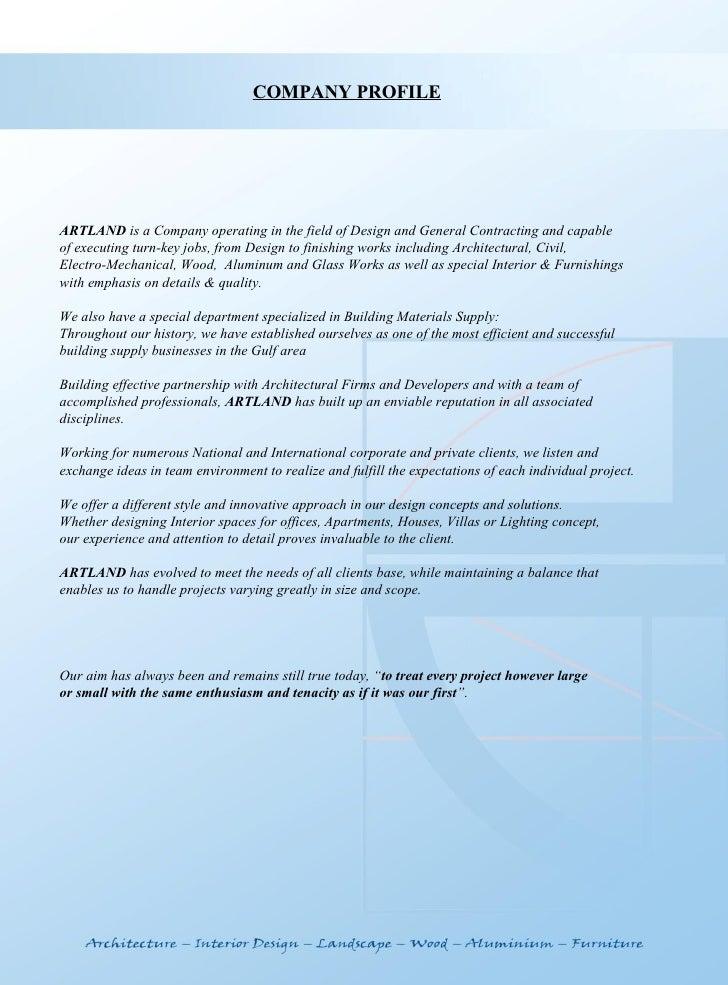 Interior Design Company Profile Sample Template Psoriasisgurucom