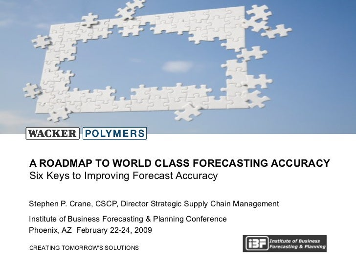Stephen P. Crane, CSCP, Director Strategic Supply Chain Management Institute of Business Forecasting & Planning Conference...