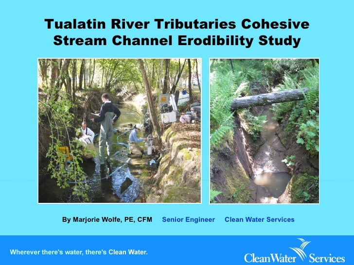 By Marjorie Wolfe, PE, CFM  Senior Engineer  Clean Water Services Tualatin River Tributaries Cohesive Stream Channel Erodi...