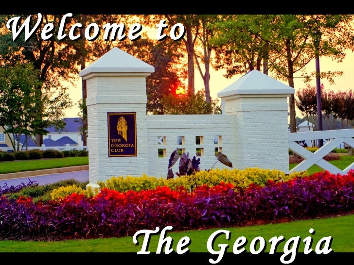 Welcome to The Georgia Club