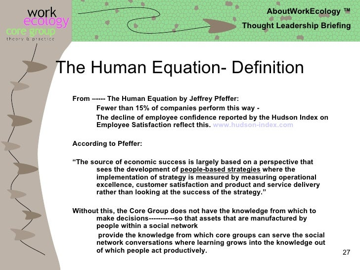 The human equation jeffrey pfeffer