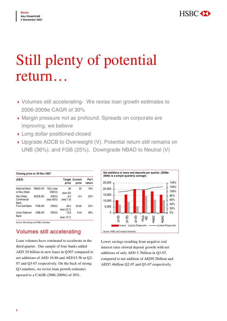 abc     Banks     Abu Dhabi/UAE     4 December 2007     Still plenty of potential return…      Volumes still accelerating-...