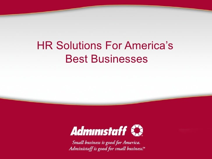 HR Solutions For America's  Best Businesses