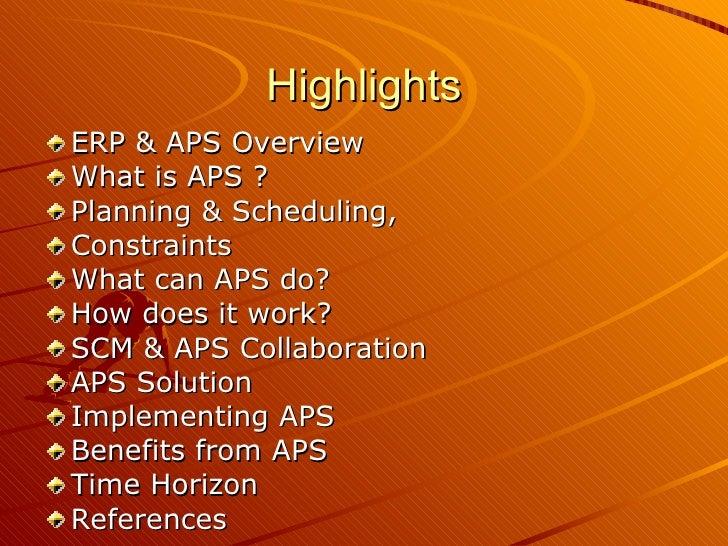 Advance Planning & Scheduling Slide 2