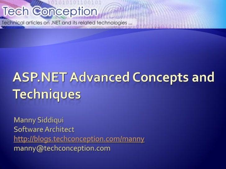 IIS and ASP.NET Integration – Deep Dive       HTTP Modules       HTTP Handlers       Virtual Path Provider       URL R...