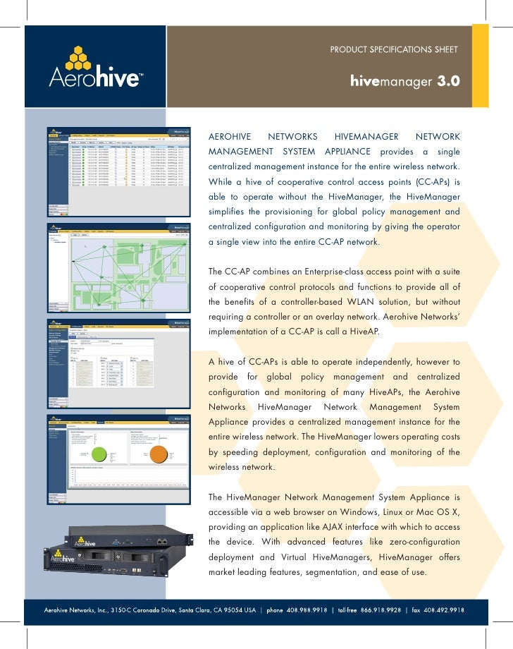 Aerohive-HiveManager3 0