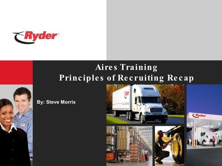 Aires Training Principles of Recruiting Recap By: Steve Morris