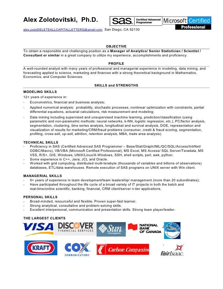alex zolotovitski resume