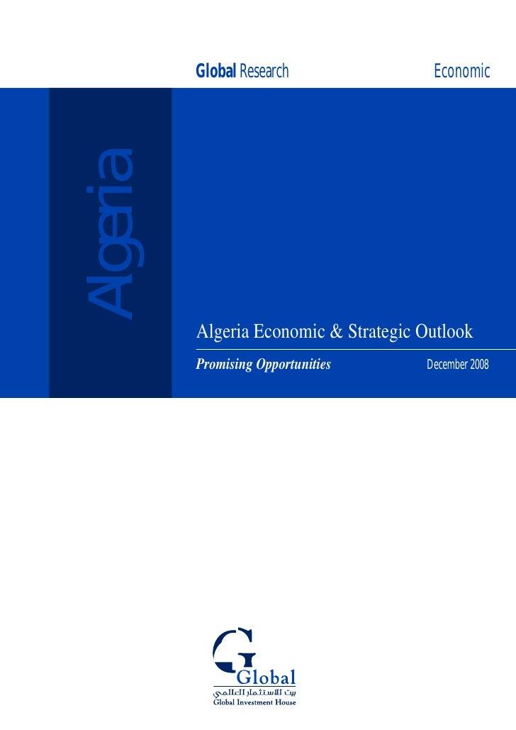 Global Research               Economic  Algeria            Algeria Economic & Strategic Outlook                           ...