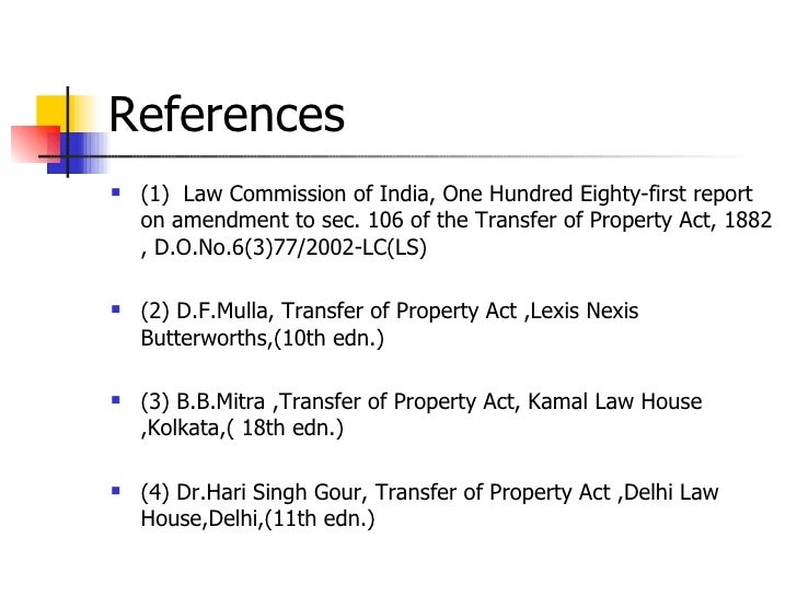 Lease Under Transfer Of Property Act
