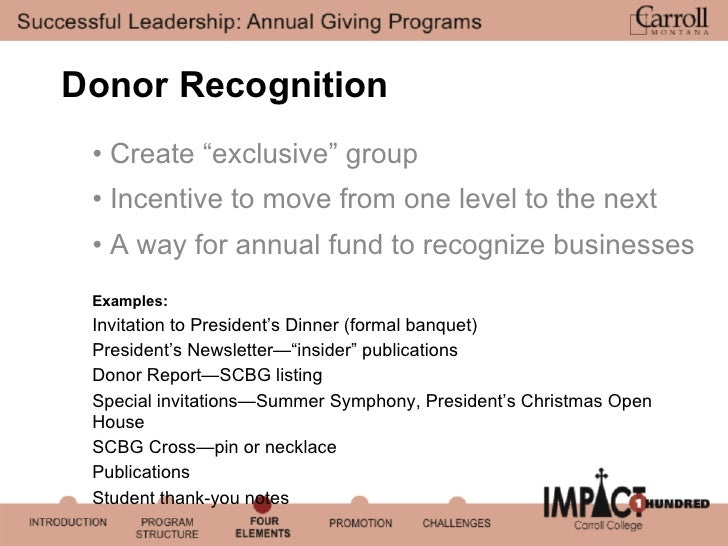 successful leadership  annual giving programs
