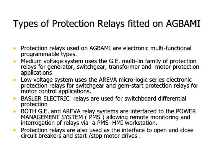 An Overview Of Agbami Fpso Electrical Power System
