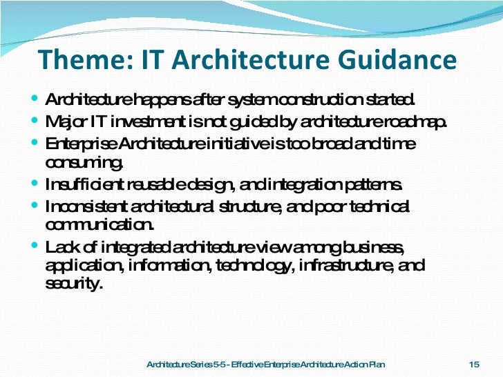 High Quality ... 15. Theme: IT Architecture ...