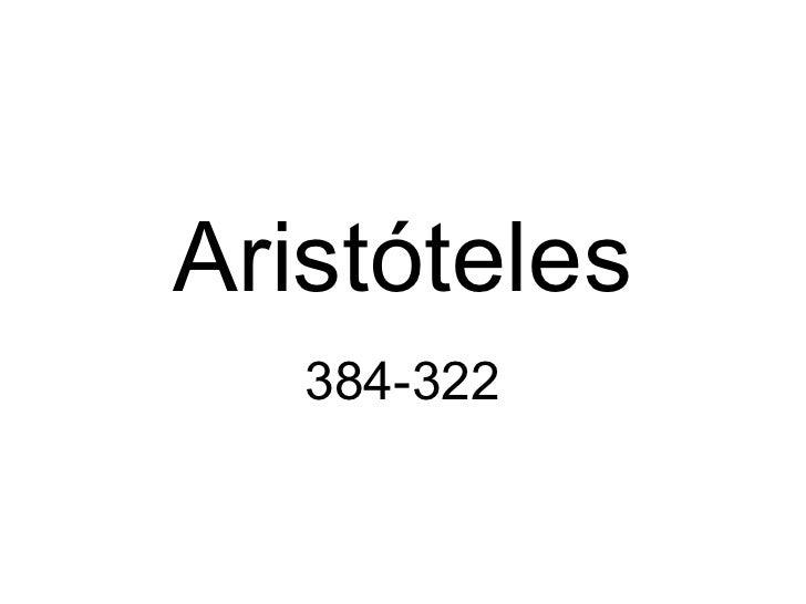 Aristóteles 384-322