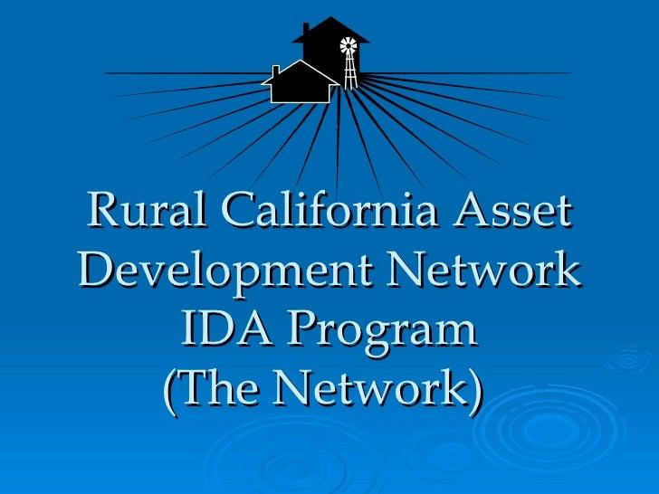 Rural California Asset Development Network IDA Program (The Network)