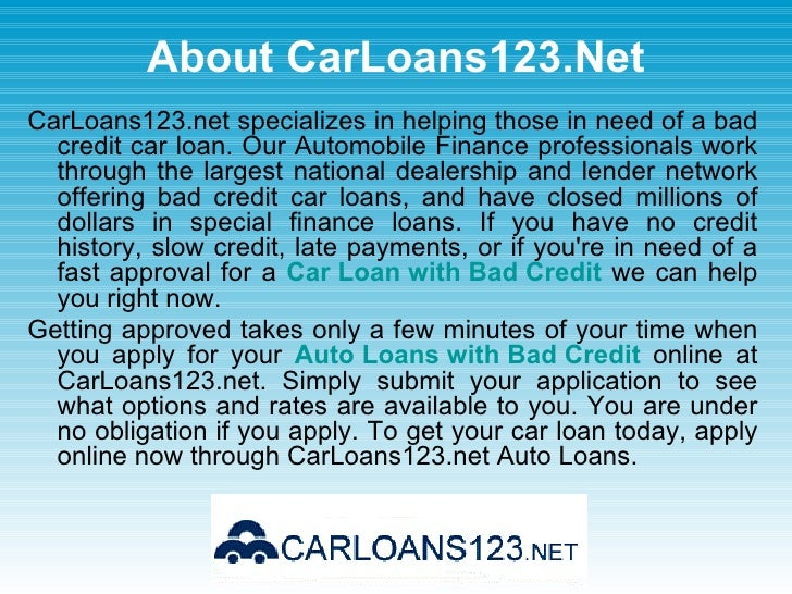 Low Interest Rate Car Loan Bad Credit