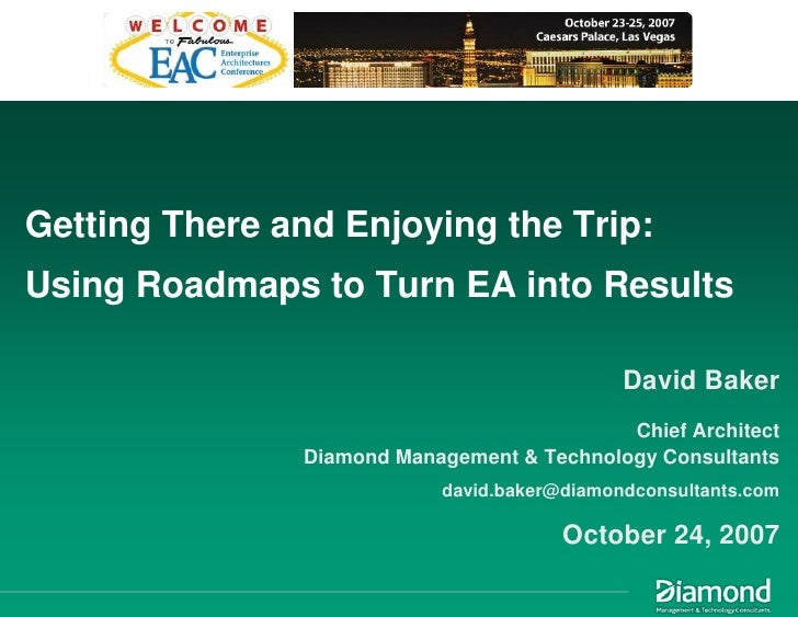 Getting There and Enjoying the Trip: Using Roadmaps to Turn EA into Results                                               ...