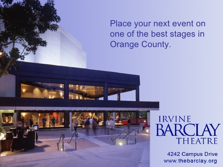 Place your next event on one of the best stages in Orange County.
