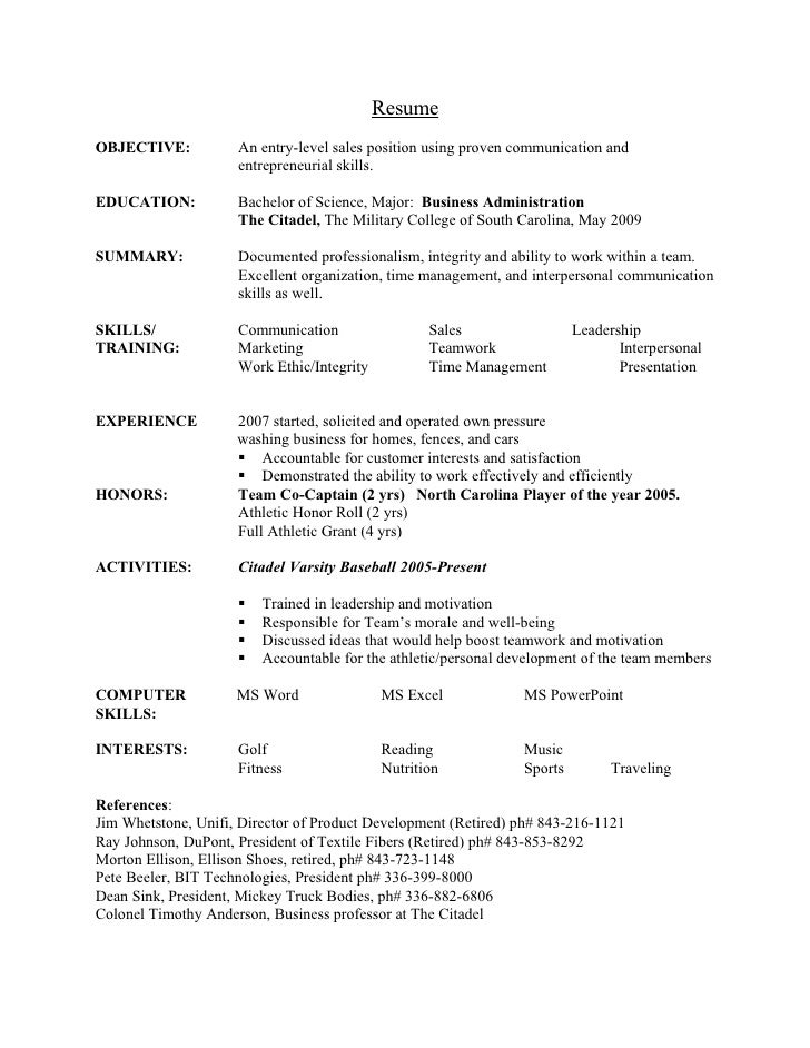 resume objective for business administration - Resume Recent College Graduate Business Administration