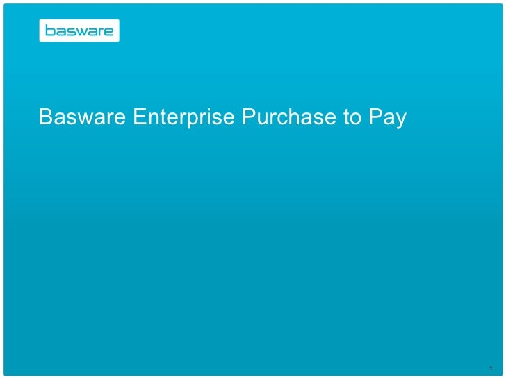 Basware Enterprise Purchase to Pay
