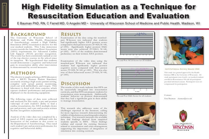 High Fidelity Simulation as a Technique for             Resuscitation Education and Evaluation        E Bauman PhD, RN, C ...