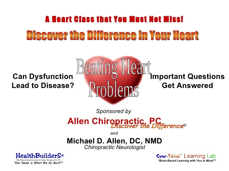 and Chiropractic Neurologist Discover the Difference Allen Chiropractic, PC Michael D. Allen, DC, NMD Important Questions ...