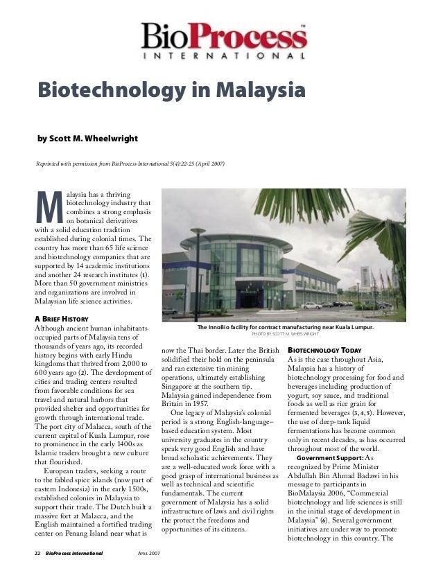 Biotechnology In Malaysia