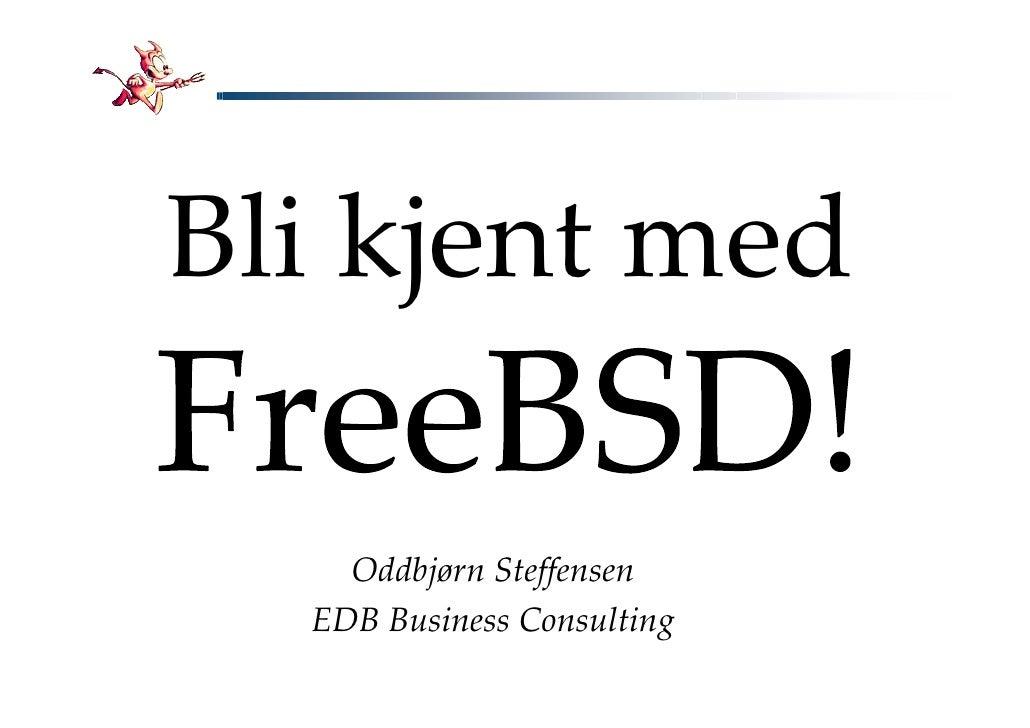 Bli kjent med      Oddbjørn Steffensen   EDB Business Consulting