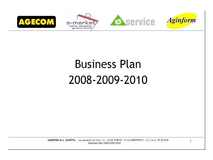 Business Plan 2008-2009-2010