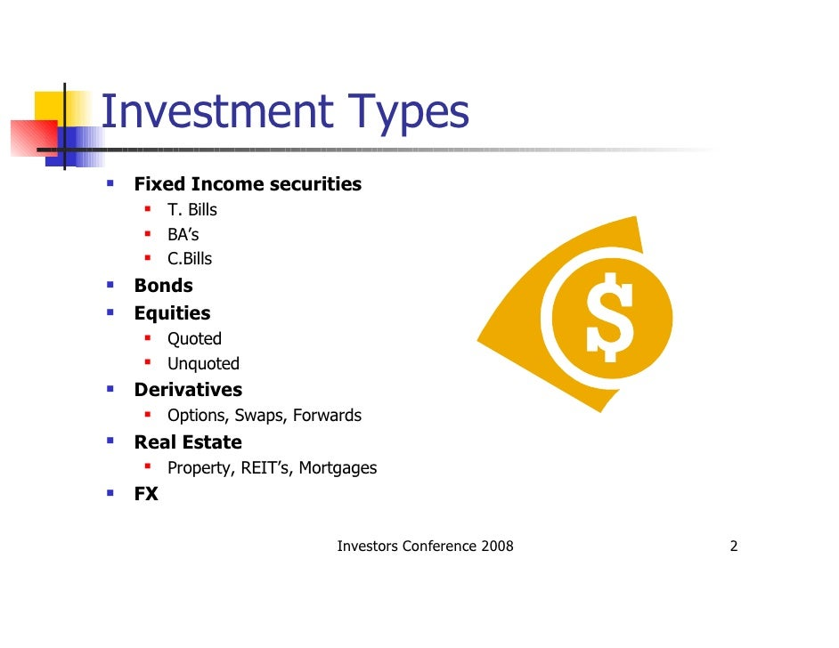 4 types of investment options