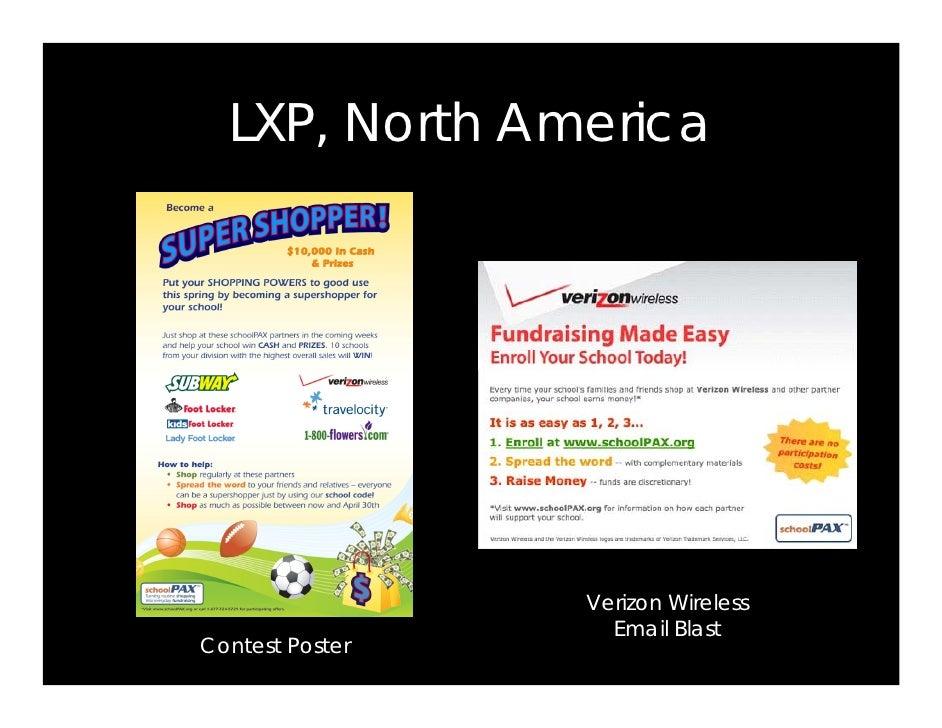 LXP, North America                      Verizon Wireless                    Email Blast Contest Poster