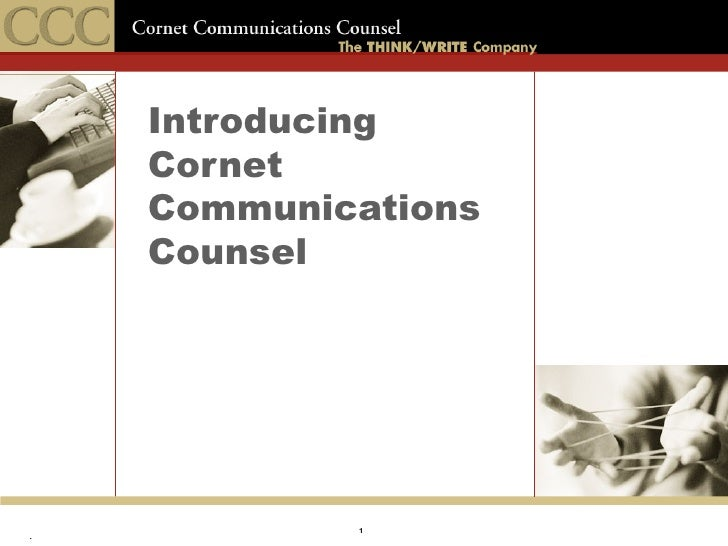 Introducing Cornet Communications Counsel
