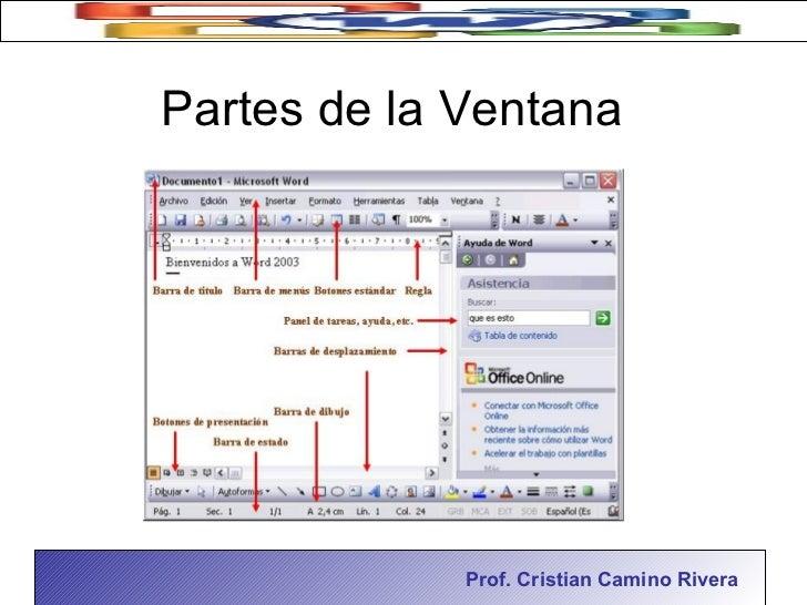 Partes De La Ventana DE MS Word 2003