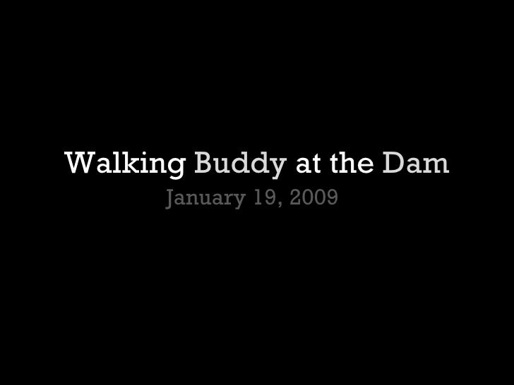 Walking  Buddy  at the  Dam January 19, 2009