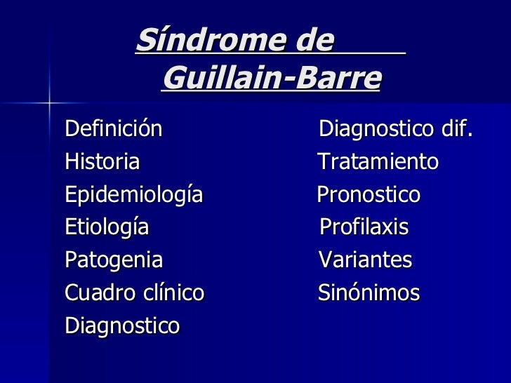 sindrome de guillain barre pdf