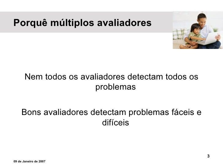 AVALIAÇÃO HEURÍSTICA Slide 3
