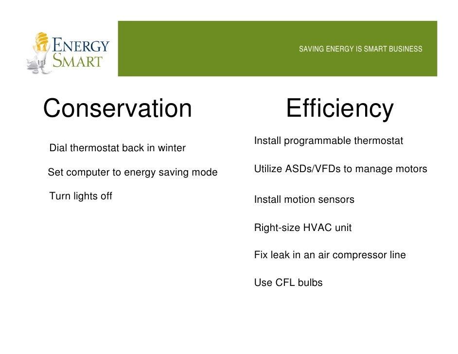 Energy Smart Saving Energy Is Smart Business