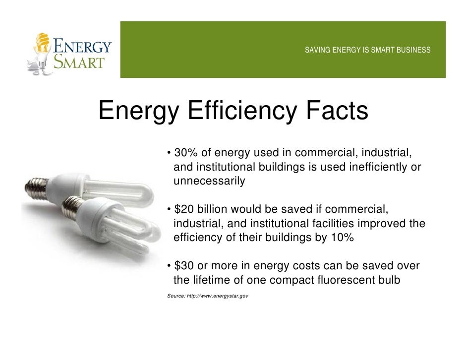 Energy smart saving energy is smart business for Energy efficiency facts