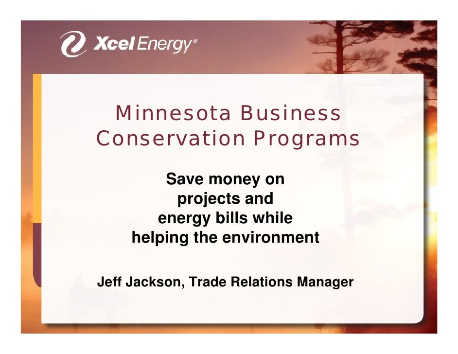 Minnesota Business Conservation Programs         Save money on           projects and        energy bills while     helpin...