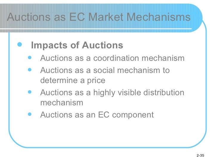 Auctions as EC Market Mechanisms <ul><li>Impacts of Auctions </li></ul><ul><ul><li>Auctions as a coordination mechanism </...