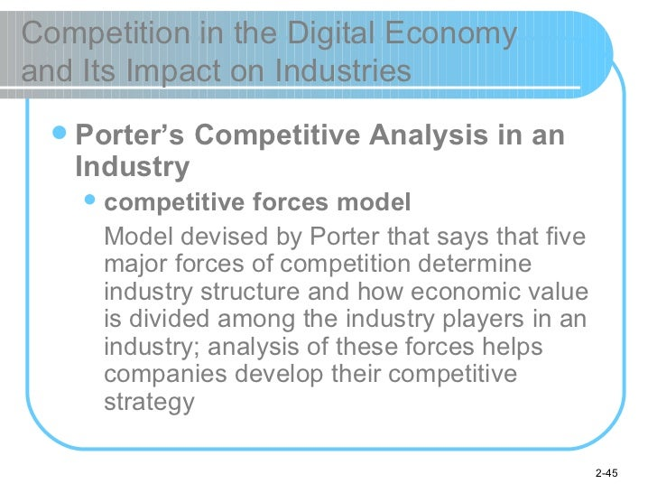 Competition in the Digital Economy  and Its Impact on Industries <ul><li>Porter's Competitive Analysis in an Industry </li...