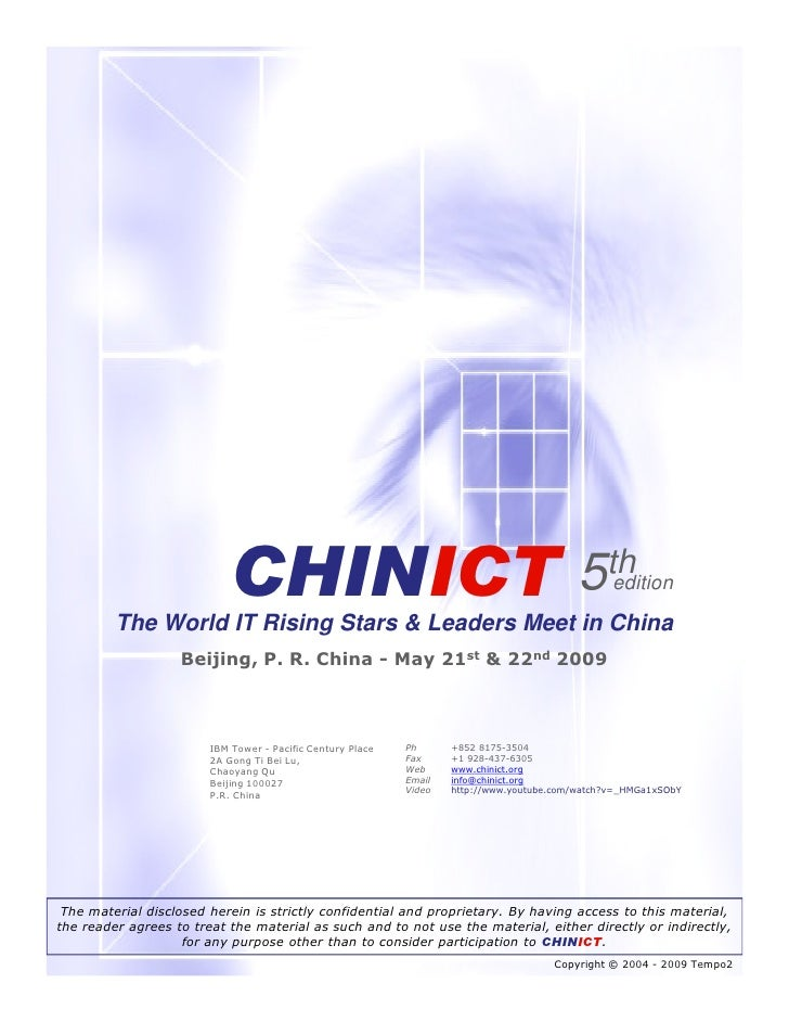 CHINICT                                                         5th   edition           The World IT Rising Stars & Leader...
