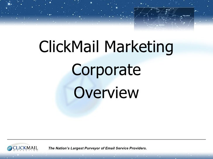 ClickMail Marketing Corporate Overview